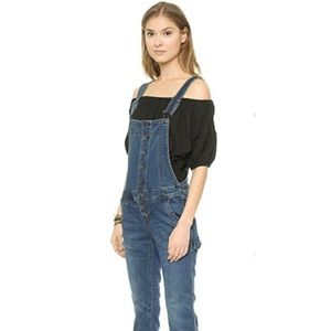 Free People Jeans - FP Button Down Overalls